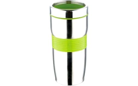 Termohrnek nerez / silikon 450 ml, zelená RENBERG RB-3021zele