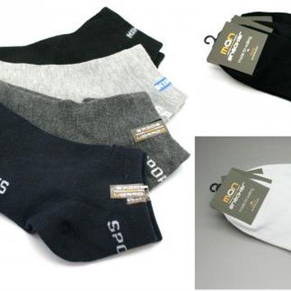 Pánské ponožky Sneaker 3 páry!