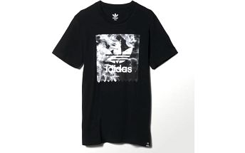 Adidas originals Burned Stamp T Black, černá, XL