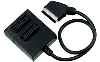 Adapter PremiumCord, kabel 0,5m, Scart/2x, 16ks
