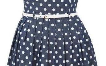 YUMI Dásmké šaty YN359 Blue
