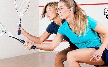 Hodina pronájmu kurtu na squash nebo ricochet