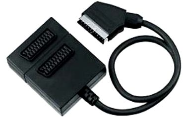 Adapter PremiumCord, kabel 0,5m, Scart/2x 17ks