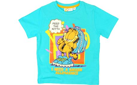 Chlapecké tričko Garfield - tyrkysové