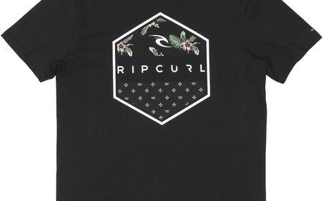 Rip Curl Hexagone Tee Black M, černá, XL