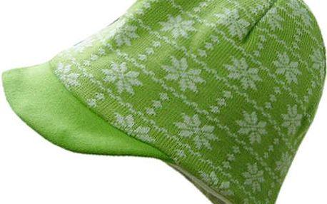 Zelená zimní čepička, před seónou s úžasnou slevou