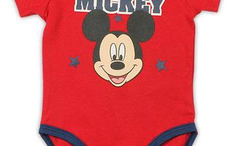 Chlapecké body Mickey Mouse - červené