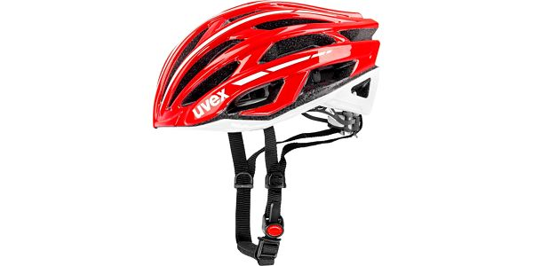 UVEX Race 5 red-white 55 - 58 cm cyklistická přilba