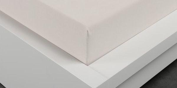 XPOSE ® Froté prostěradlo Exclusive - bílá káva 140x200 cm