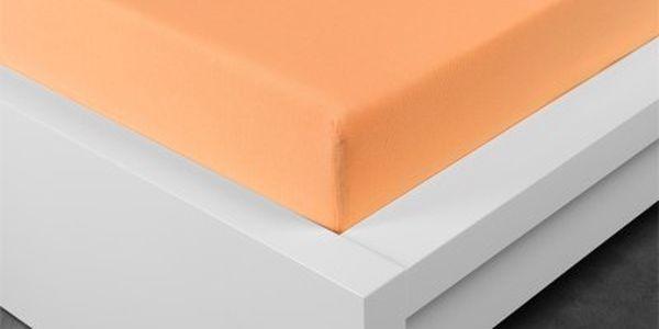 XPOSE ® Jersey prostěradlo dvoulůžko - meruňková 180x200 cm