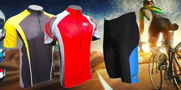 Cyklistické dresy, kraťasy, rukavice