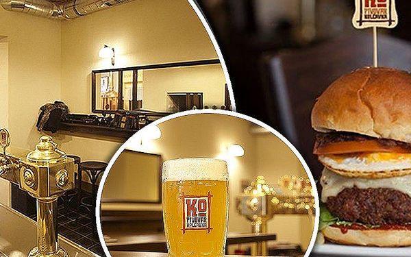 2x obří Farmer´s burger s hranolkami a salátem, ochutnávka 4 druhů piva a prohlídka pivovaru.