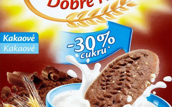 Opavia Opavia BeBe Dobré ráno kakaové cereální sušenky s čokoládovými pecičkami -30 % cukru 8 x 50g