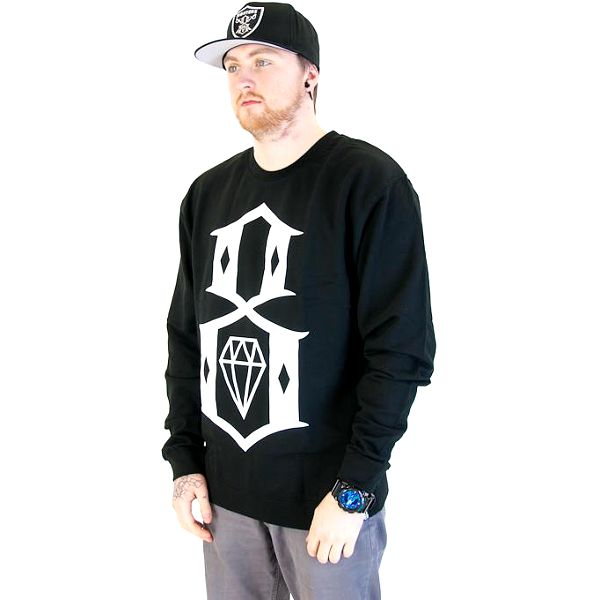 Mikina Rebel8 Logo Crewneck Black