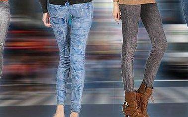 2 kusy džínových legín: sedm různých designů v černé a modré barvě.