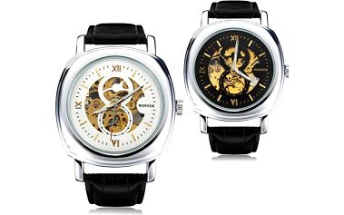 Samonatahovací hodinky Winner s průhledným ciferníkem