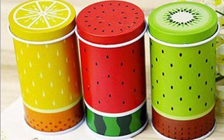 Plechový box na čaj s motivem ovoce