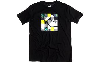 Quiksilver Classic Tee Chipped Anthracite, černá, XL