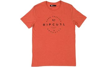 Rip Curl Zinc Print Tee Hot Coral Marled M
