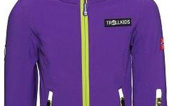 Dívčí fialová softshellová bunda