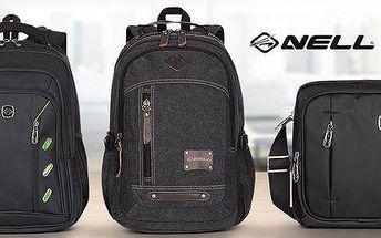 Černé batohy NELL – na notebook, sport i do města