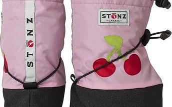 Růžové nepromokavé capáčky/návleky s třešní
