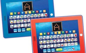Tablet s abecedou a slovy, modrý