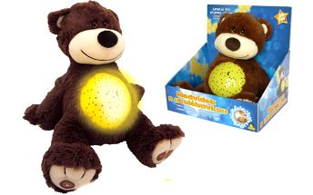 Medvídek - projektor s ukolébavkou, 25 cm