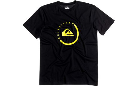 Quiksilver Classic Tee Everyday Active Anthracite 3, černá, XXL