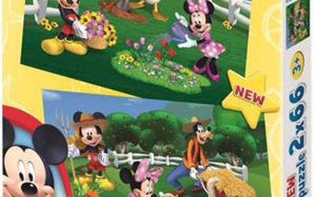 Puzzle Mickeyho Klubík: Na farmě 2x66 dílků