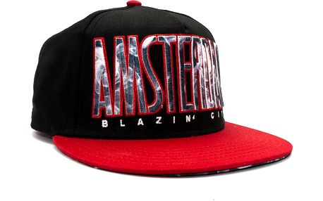 Kšiltovka Cayler & Sons Blazin City Black/Red/Smoke Snapback