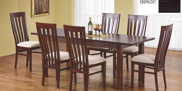 Jídelní stůl Ernest 160/200 cm (tmavý ořech)