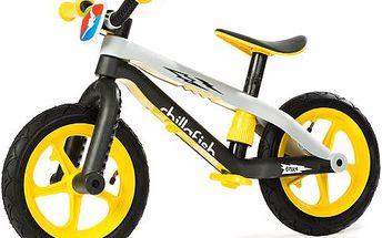 Odrážedlo BMXie Yellow s odnímatelnými stupačkami