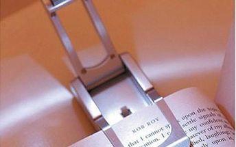 LED lampička na knihu s praktickým klipem