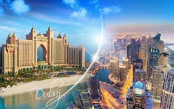 Luxusní DUBAJ! LETECKÝ poznávací zájezd na 8 dní pro 1 osobu se 4* ubytováním vč. SNÍDANÍ a možnosti koupání!