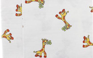 Libštátské pleny Dětská bavlněná plena/osuška, 90x100 cm, potisk, 2 ks, Žirafa