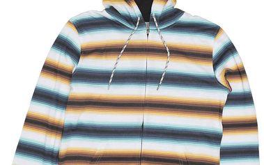 Rip Curl Essential Stripes HZ Fleece Optical White M, bílá, M