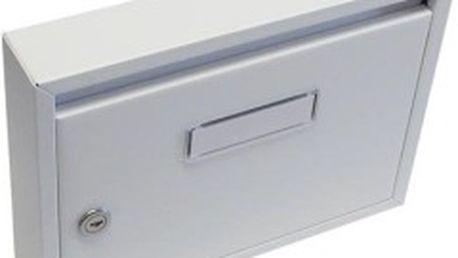 Poštovní schránka paneláková 320x240x60 mm, bílá bez děr