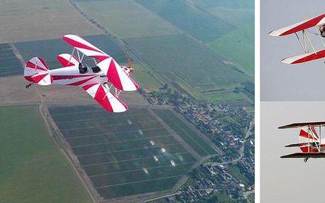 Pilotem Dvouplošníku na zkoušku - více než Vyhlídkový let! V nádherném stroji v retro stylu!!