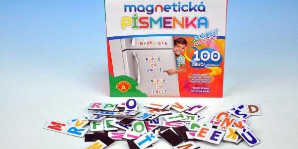 Magnetická písmenka na lednici 100 dílků!