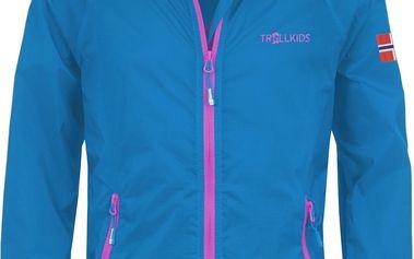 Dívčí běžecká bunda - světle modrá
