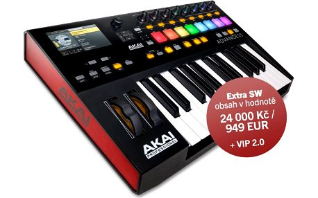 USB / MIDI keyboard, 25 kláves Akai Advance 25