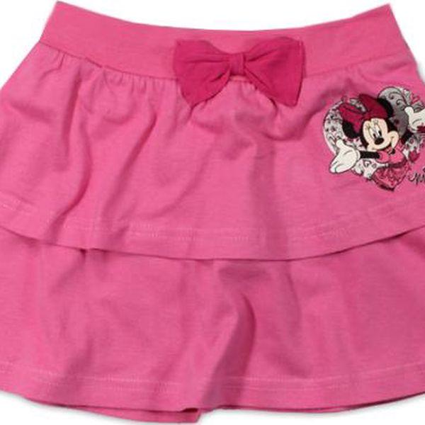 Dívčí sukně Minnie s mašlí - růžová