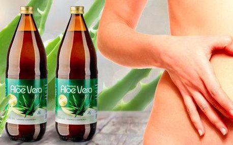 Přírodní 100% šťávy Allnature Premium Aloe Vera (2× 1000 ml)