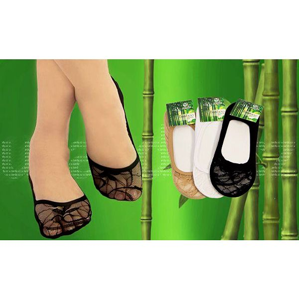 20 párů ponožek do balerínek z 95% bambusového vlákna ve 2 velikostech