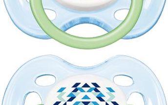 Avent šidítko SENSITIVE FANTAZIE 0-6m., 2ks - modrá/zelená