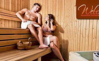 Privátní sauna s vonnými esencemi pro dva