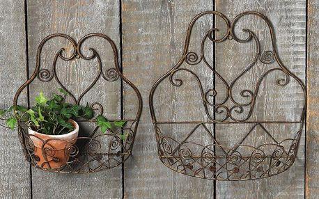 Sada 2 držáků na květináč Vintage