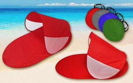 Plážový přístřešek pro dva s nastavitelnou stříškou v různých barvách