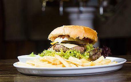 2x domácí hovězí Riders Mega Burger